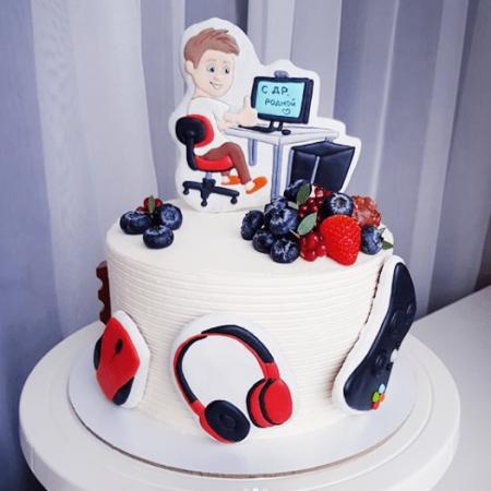 Торт на тему компьютер