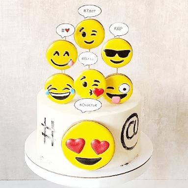 Смайлик торт на день рождения