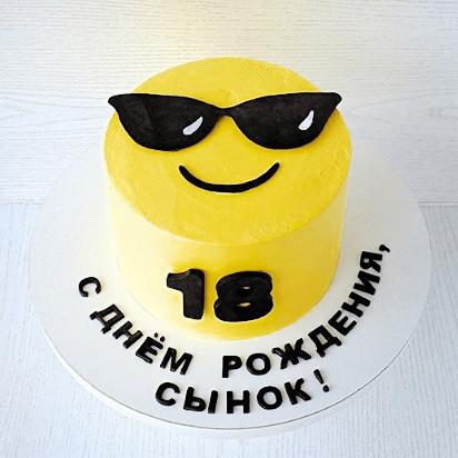 Смайлик торт