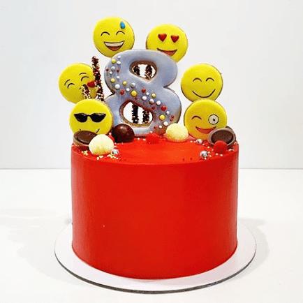 Торт смайлик для детей