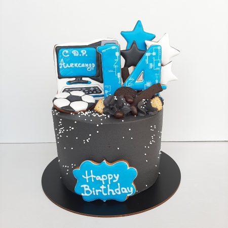 Торт с компьютером фото