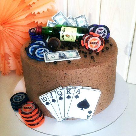Торт на заказ с картой