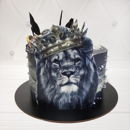 Торт лев с короной