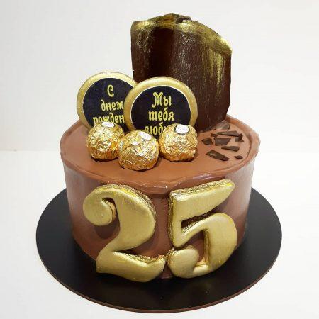 Торт мужчине на 25 лет