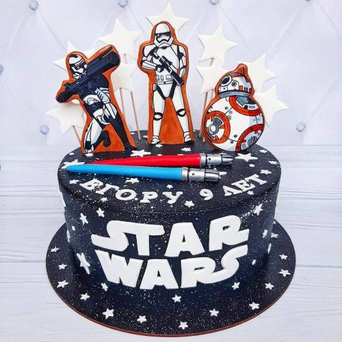 Детский торт звездные войны