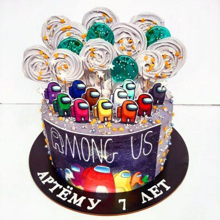 Торт амонг ас вафельная картинка
