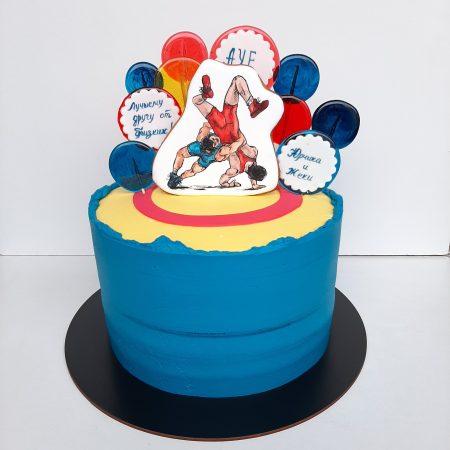 Торт для спортсмена борца