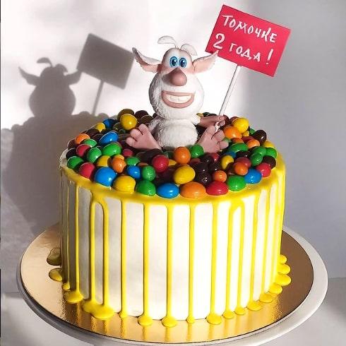 Детский торт с бубой