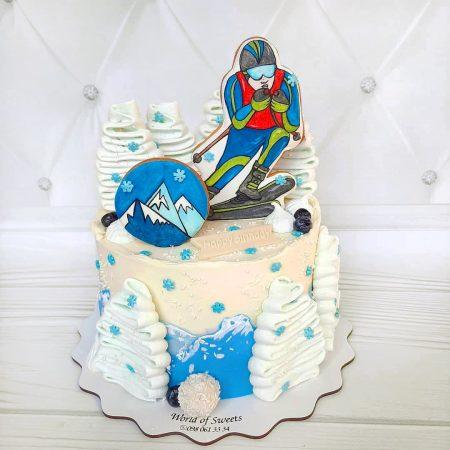 Торт лыжнику